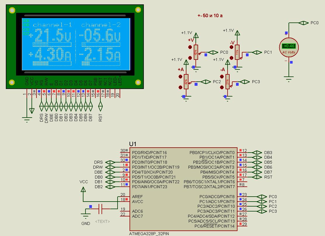 Nano вольт амперметр канала Схемы радиолюбителей