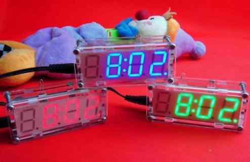 LED digital Modue Alarm clock time Temperature diy kit
